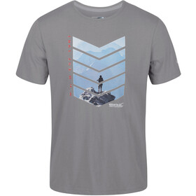Regatta Breezed Camiseta Hombre, rock grey